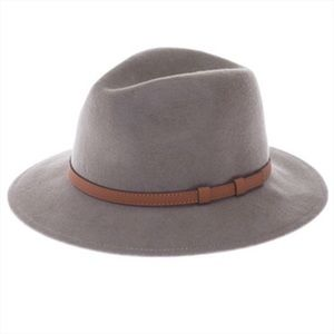 Accessories - NEW! 100% Wool Felt Panama Hat, Wide Brim Gray
